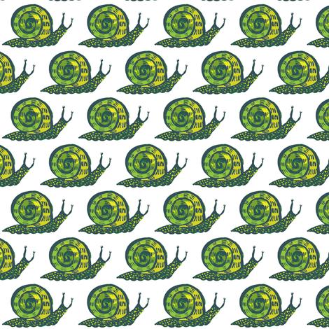 snail guy_cella ree fabric by kheckart on Spoonflower - custom fabric