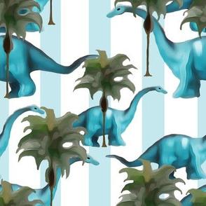 Brachiasaurus & Palm Trees