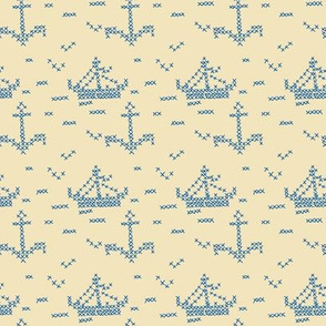 Cross Stitch Boats