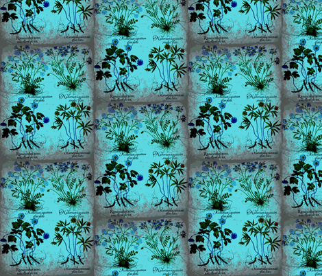 flower5-ed fabric by craftyscientists on Spoonflower - custom fabric