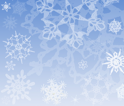 Snowcatcher Gradient Blue fabric by snowcatcher on Spoonflower - custom fabric