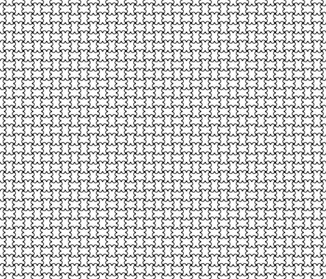 Interlock BlackWhite1 fabric by moharris on Spoonflower - custom fabric