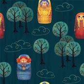 Matryoshka in the Woods - Green