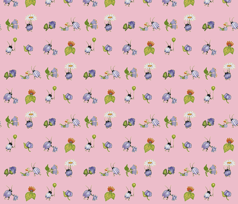 baby buggys pink fabric by golders on Spoonflower - custom fabric
