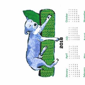 pup nap 12 : 2018 calendar tea towel