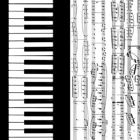 Piano Music fabric by braided_arrow_art on Spoonflower - custom fabric