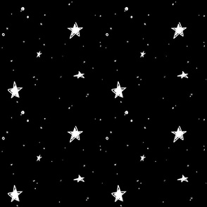 Sweet Stars - White on Black