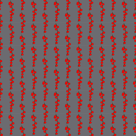 Red Apples on Grey fabric by janinez on Spoonflower - custom fabric