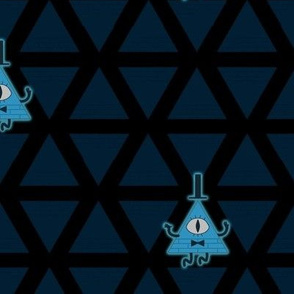 Blue illuminati Pyramids