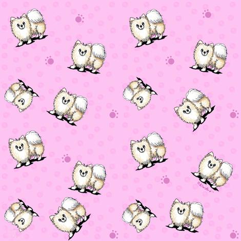 TINY Mini Pom Girls fabric by kiniart on Spoonflower - custom fabric