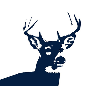 Navy Buck // Pillow Cover