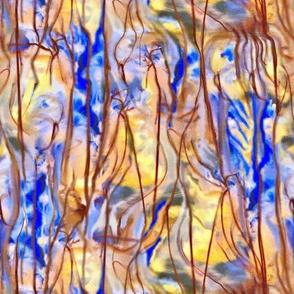jellyfish tentacles blue