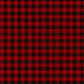 Very Small Scale Red and Black Check