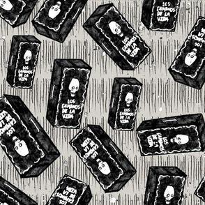 Coffins a la dia de los muertos