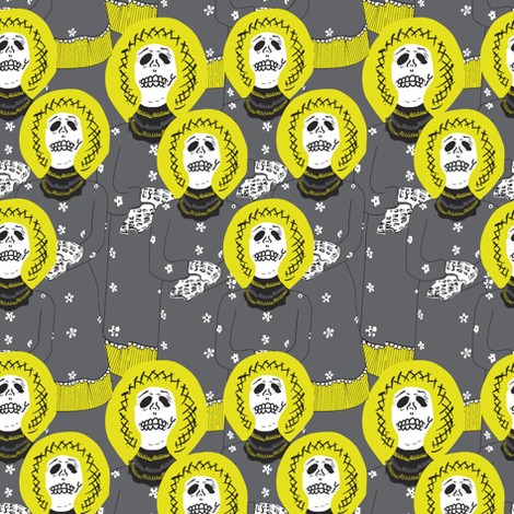 Ladies in grey fabric by susiprint on Spoonflower - custom fabric