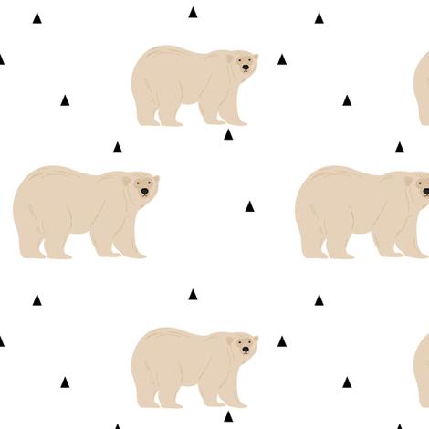 Polar Bear fabric by mintpeony on Spoonflower - custom fabric