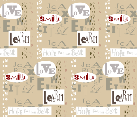 SOOBLOO_HOPE_FOR_THE_BEST-1b-01 fabric by soobloo on Spoonflower - custom fabric