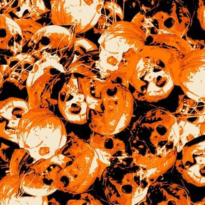 orange skulls halloween