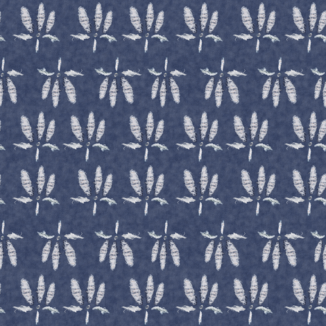 Blue Jean Ganja fabric by camomoto on Spoonflower - custom fabric