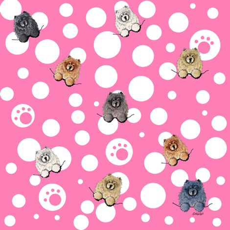 Little Doggie Chow Chow fabric by kiniart on Spoonflower - custom fabric