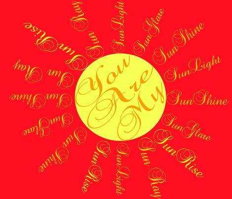My_SunShine fabric by ruthjohanna on Spoonflower - custom fabric