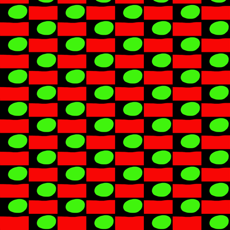 Green Eggs Red Boxes fabric by eve_catt_art on Spoonflower - custom fabric