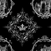 Rrcastle_in_fancy_frame_white_pattern_quadrants_crown_orn_on_black_shop_thumb