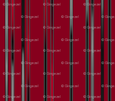 Black and Gray Stripes on Red