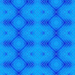 Geometric-blue shimmer
