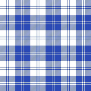 Erskine dress light royal blue tartan