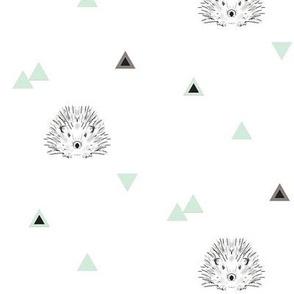 hedgehog mint triangles