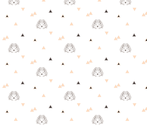 hedgehog coral triangles fabric by miamea on Spoonflower - custom fabric