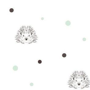 hedgehog dots mint
