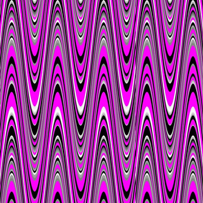 hot_pink_black_white_waves_pattern