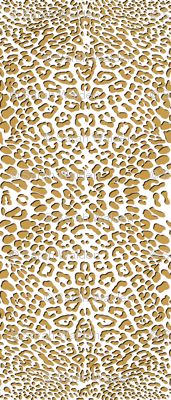 Ooh La La! Leopard ~ Gilt with Black on White