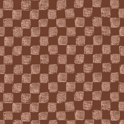 Mahogany Checkerboard fabric by weavingmajor on Spoonflower - custom fabric