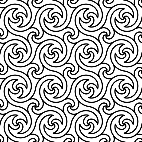 03676265 : spiral 4 flick : outline fabric by sef on Spoonflower - custom fabric