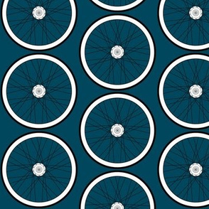 Teal Bike Wheel