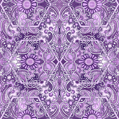 Cosmic purple gardens fabric edsel2084 spoonflower for Cosmic print fabric