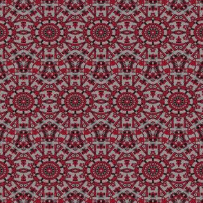 Red and Gray Mosaic