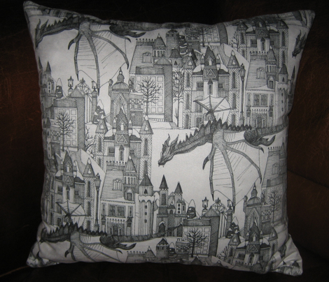 Dragon Kingdom Winter Toile