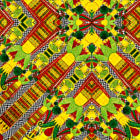 African Mud Cloth Inspired fabric by whimzwhirled on Spoonflower - custom fabric