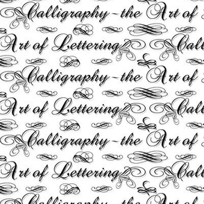 Calligraphy (B&W)