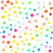 Rainbow watercolor dots