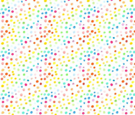Rainbow watercolor dots fabric by emmaallardsmith on Spoonflower - custom fabric