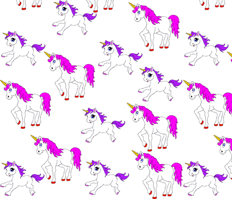unicorn_pattern fabric by snappy_baby on Spoonflower - custom fabric