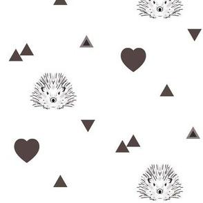 hedgehog and hearts
