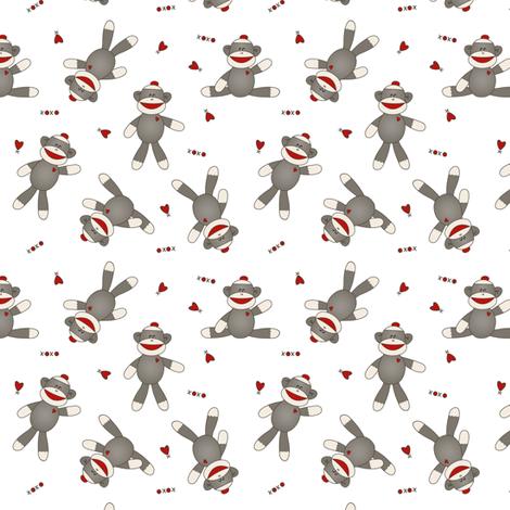 Sock Monkey 1.5 inch fabric by jennifer_todd on Spoonflower - custom fabric