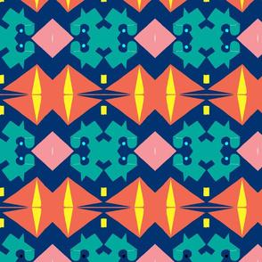 SAlmon tribal pattern
