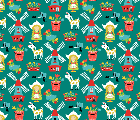 Wee Are the World: Dutchy fabric by sheri_mcculley on Spoonflower - custom fabric